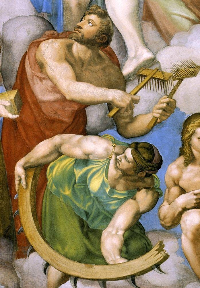 konfigurieren des Kunstdrucks in Wunschgröße Detail From The Last Judgement 32 von Michelangelo
