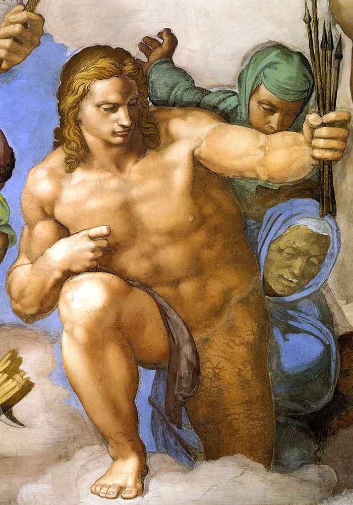 konfigurieren des Kunstdrucks in Wunschgröße Detail From The Last Judgement 33 von Michelangelo