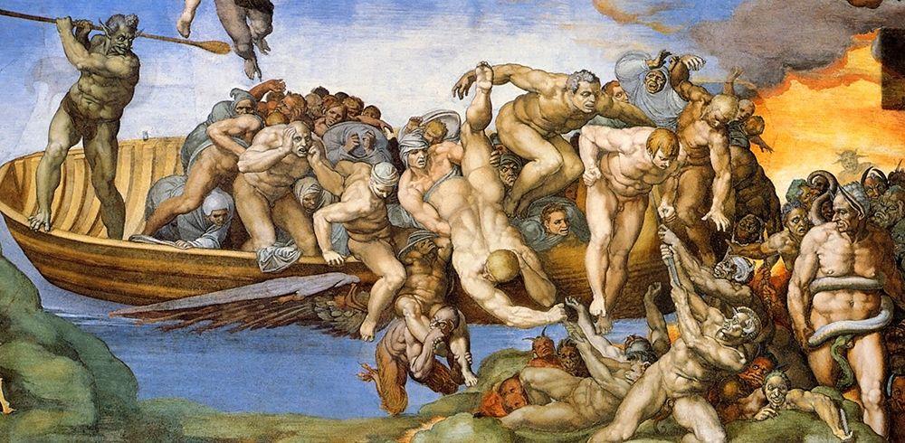 konfigurieren des Kunstdrucks in Wunschgröße Detail From The Last Judgement 34 von Michelangelo