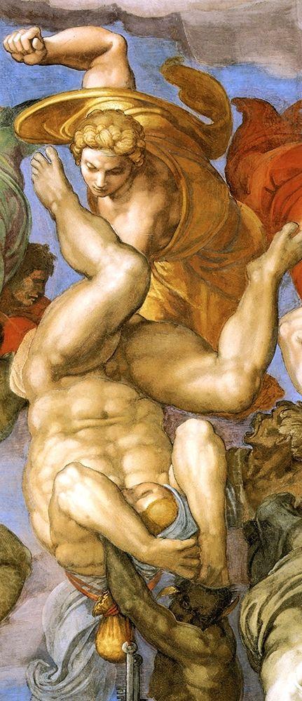 konfigurieren des Kunstdrucks in Wunschgröße Detail From The Last Judgement 35 von Michelangelo