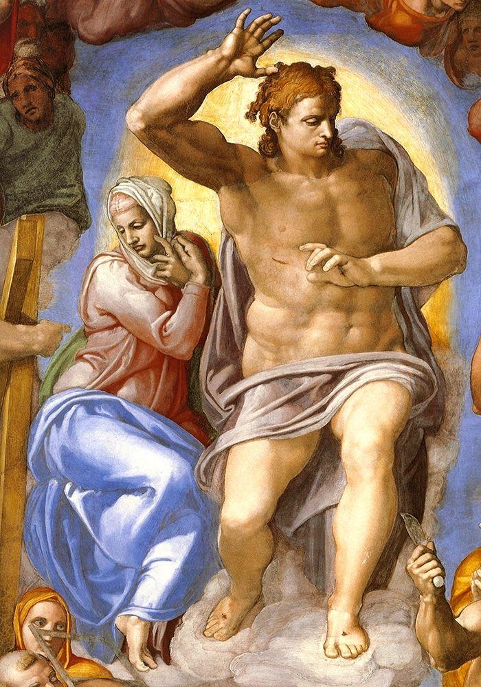 konfigurieren des Kunstdrucks in Wunschgröße Detail From The Last Judgement 4 von Michelangelo