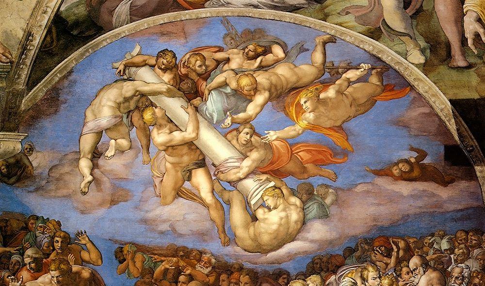 konfigurieren des Kunstdrucks in Wunschgröße Detail From The Last Judgement 7 von Michelangelo