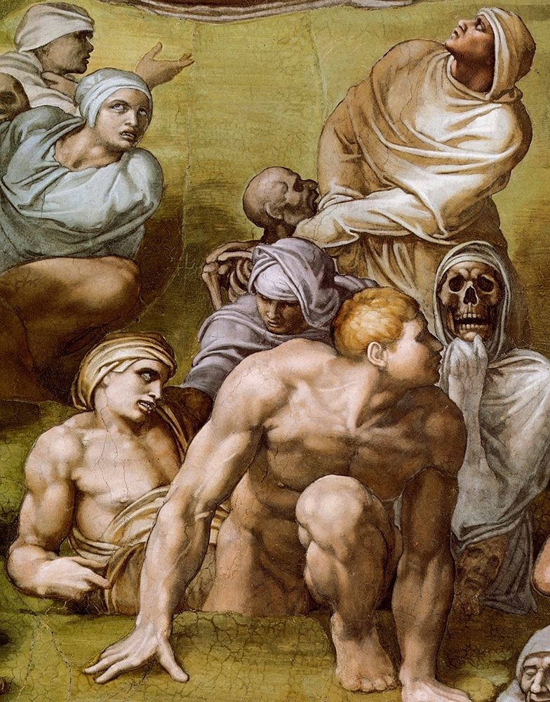 konfigurieren des Kunstdrucks in Wunschgröße Detail From The Last Judgement 8 von Michelangelo