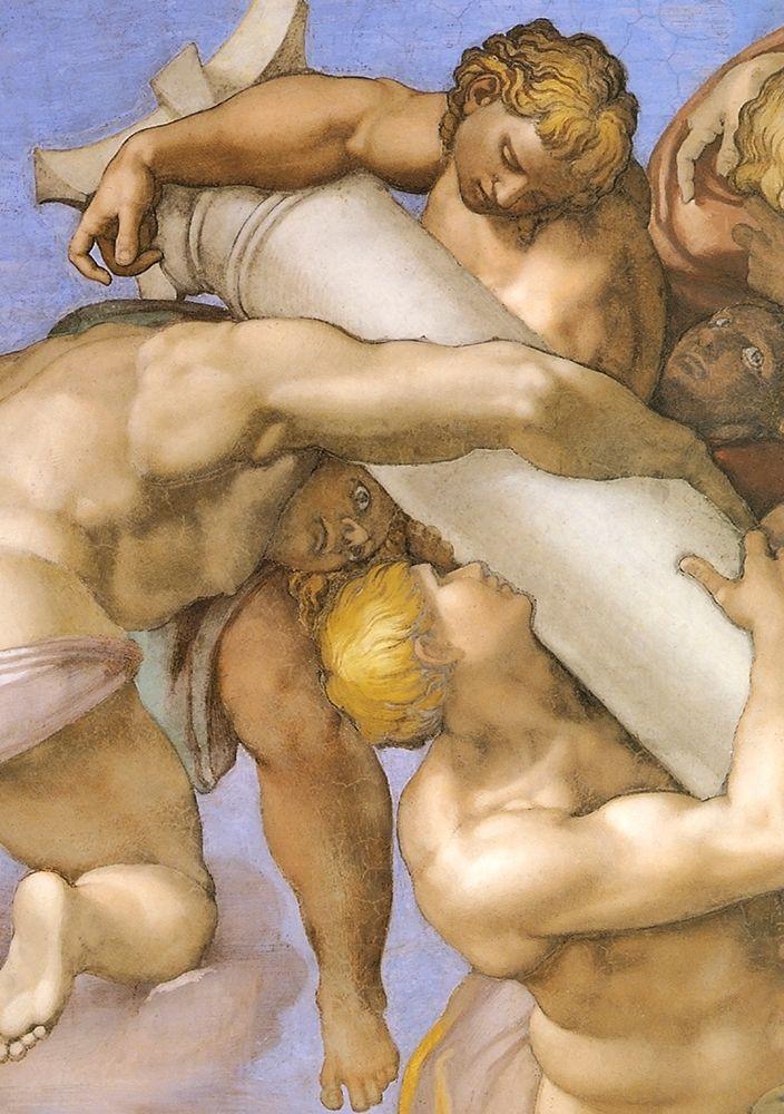 konfigurieren des Kunstdrucks in Wunschgröße Detail From The Last Judgement (1) von Michelangelo