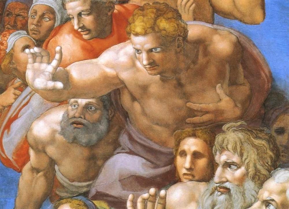 konfigurieren des Kunstdrucks in Wunschgröße Detail From The Last Judgement - Christ von Michelangelo