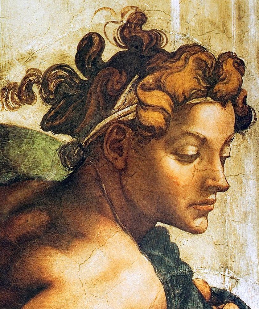 konfigurieren des Kunstdrucks in Wunschgröße Head Of A Nude von Michelangelo