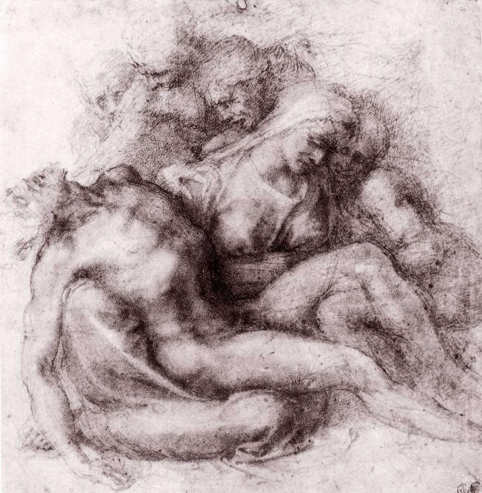 konfigurieren des Kunstdrucks in Wunschgröße Lamentation Over The Dead Christ von Michelangelo