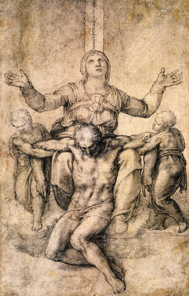 konfigurieren des Kunstdrucks in Wunschgröße Pieta-4 von Michelangelo