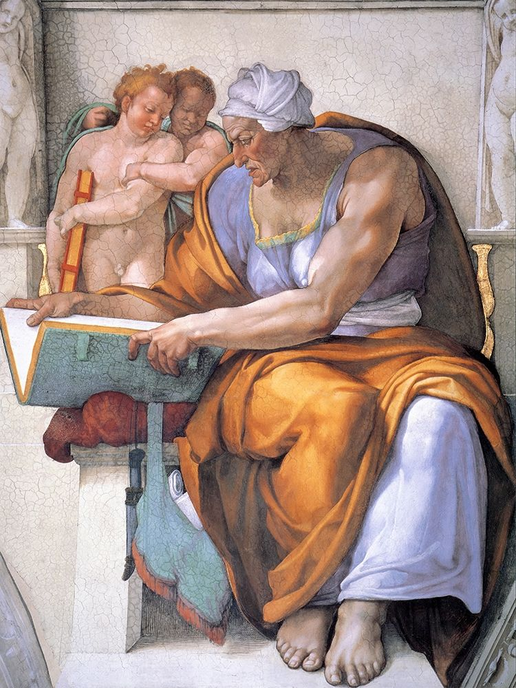 konfigurieren des Kunstdrucks in Wunschgröße The Cumean Sibyl von Michelangelo