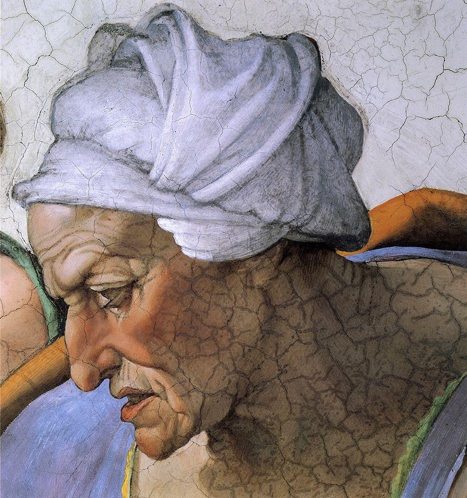 konfigurieren des Kunstdrucks in Wunschgröße The Cumean Sibyl (detail) von Michelangelo