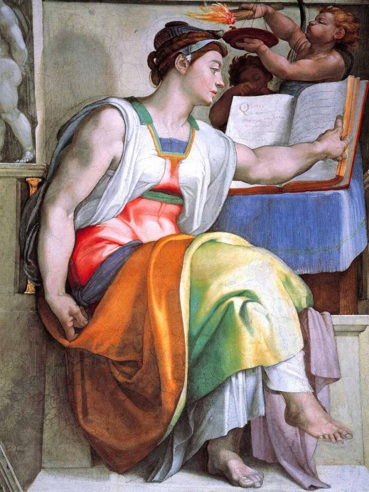 konfigurieren des Kunstdrucks in Wunschgröße The Erythraean Sibyl von Michelangelo