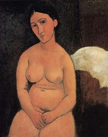 konfigurieren des Kunstdrucks in Wunschgröße A Seated Nude von Modigliani, Amedeo
