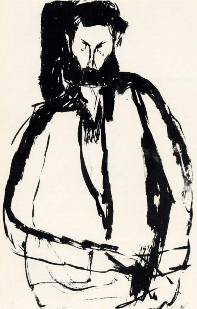 konfigurieren des Kunstdrucks in Wunschgröße Bearded Man von Modigliani, Amedeo