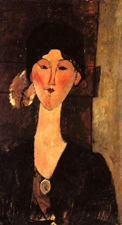 konfigurieren des Kunstdrucks in Wunschgröße Beatrice Hastings In Front Of A Door von Modigliani, Amedeo
