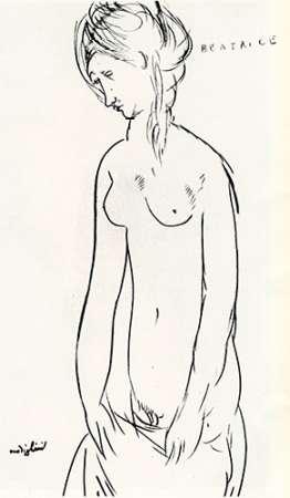 konfigurieren des Kunstdrucks in Wunschgröße Beatrice Hastings Nude von Modigliani, Amedeo