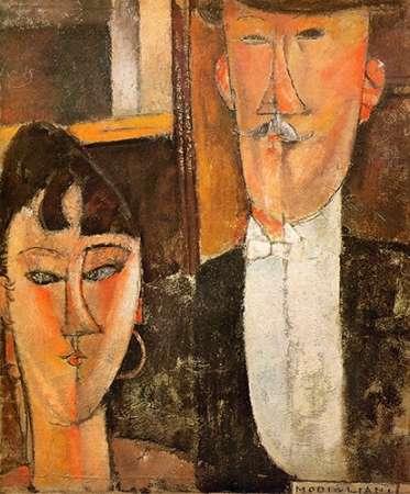 konfigurieren des Kunstdrucks in Wunschgröße Bride And Groom Les Maries von Modigliani, Amedeo