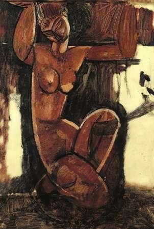 konfigurieren des Kunstdrucks in Wunschgröße Caryatid 6 von Modigliani, Amedeo
