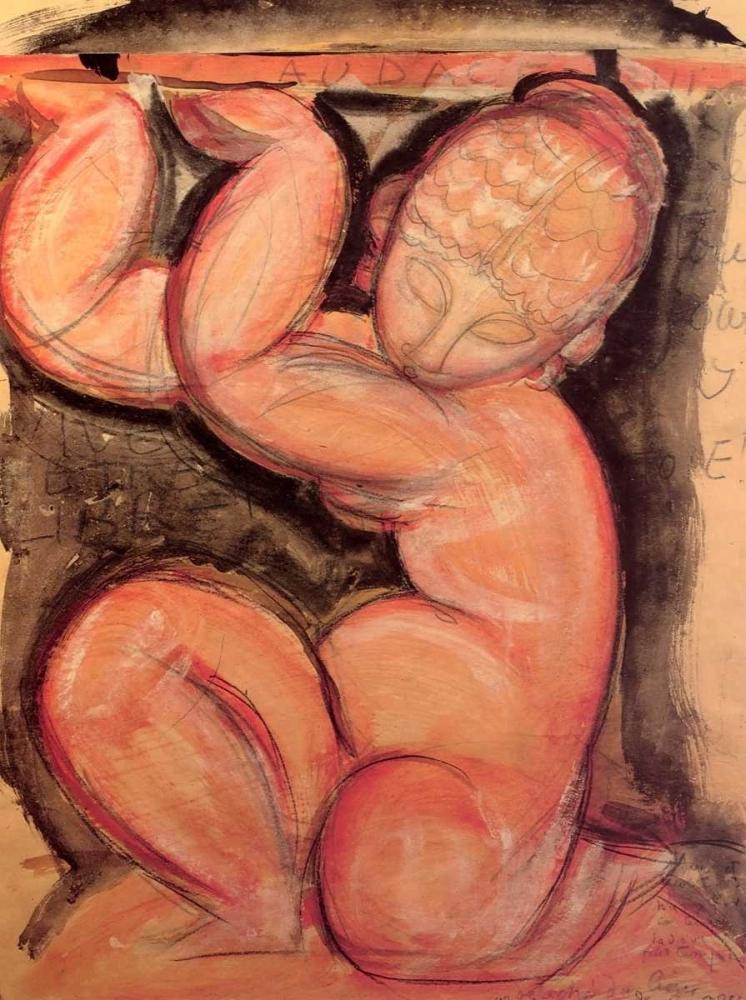 konfigurieren des Kunstdrucks in Wunschgröße Caryatid X von Modigliani, Amedeo