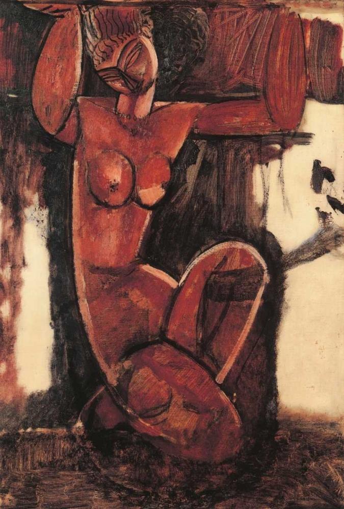 konfigurieren des Kunstdrucks in Wunschgröße Caryatid A von Modigliani, Amedeo