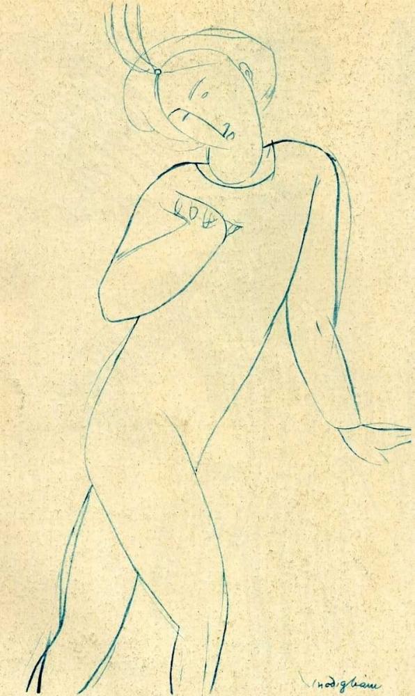 konfigurieren des Kunstdrucks in Wunschgröße Dancer Nijinsky von Modigliani, Amedeo