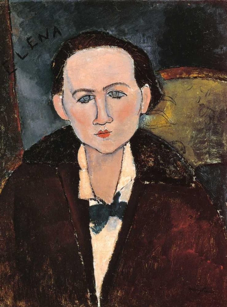 konfigurieren des Kunstdrucks in Wunschgröße Elena Povolozky von Modigliani, Amedeo
