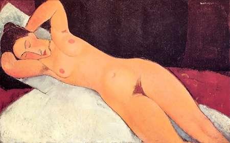 konfigurieren des Kunstdrucks in Wunschgröße Eyes Closed Reclining Nude von Modigliani, Amedeo