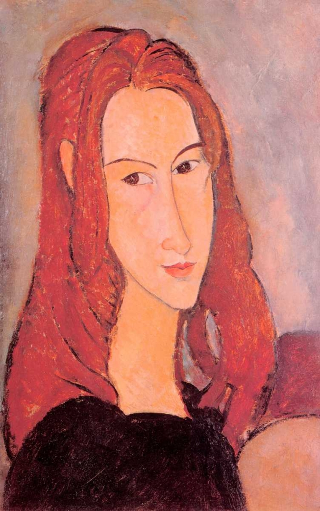 konfigurieren des Kunstdrucks in Wunschgröße Girl Jeanne Hebuterne von Modigliani, Amedeo
