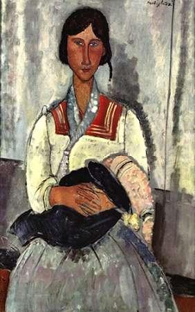 konfigurieren des Kunstdrucks in Wunschgröße Gypsy Woman With Baby von Modigliani, Amedeo