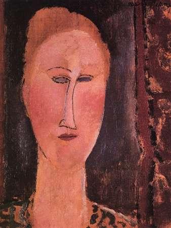 konfigurieren des Kunstdrucks in Wunschgröße Head Of A Woman 2 von Modigliani, Amedeo