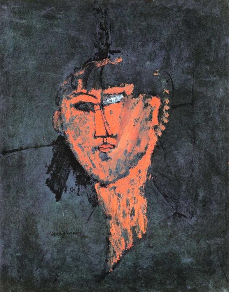 konfigurieren des Kunstdrucks in Wunschgröße Head Of A Young Woman von Modigliani, Amedeo