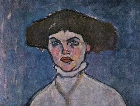 konfigurieren des Kunstdrucks in Wunschgröße Head Of Young Woman von Modigliani, Amedeo