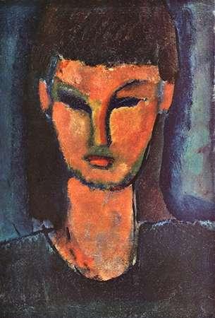 konfigurieren des Kunstdrucks in Wunschgröße Head Of Young Woman 2 von Modigliani, Amedeo