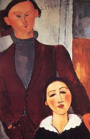 konfigurieren des Kunstdrucks in Wunschgröße Jacues Lipchitz Andwife von Modigliani, Amedeo