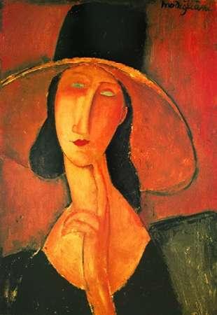 konfigurieren des Kunstdrucks in Wunschgröße Jeanne Hebuterne Con Grande von Modigliani, Amedeo