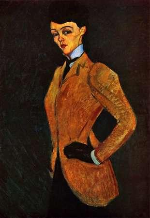 konfigurieren des Kunstdrucks in Wunschgröße Lady Inriding Habit von Modigliani, Amedeo