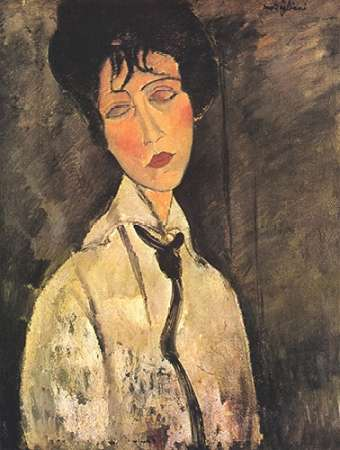 konfigurieren des Kunstdrucks in Wunschgröße Lady With Black Tie von Modigliani, Amedeo