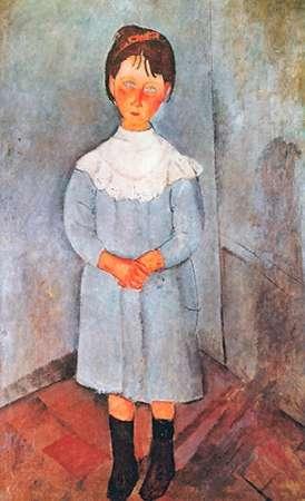 konfigurieren des Kunstdrucks in Wunschgröße Little Girl In Blue von Modigliani, Amedeo