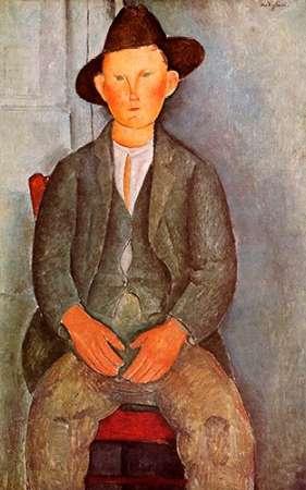konfigurieren des Kunstdrucks in Wunschgröße Little Peasant von Modigliani, Amedeo
