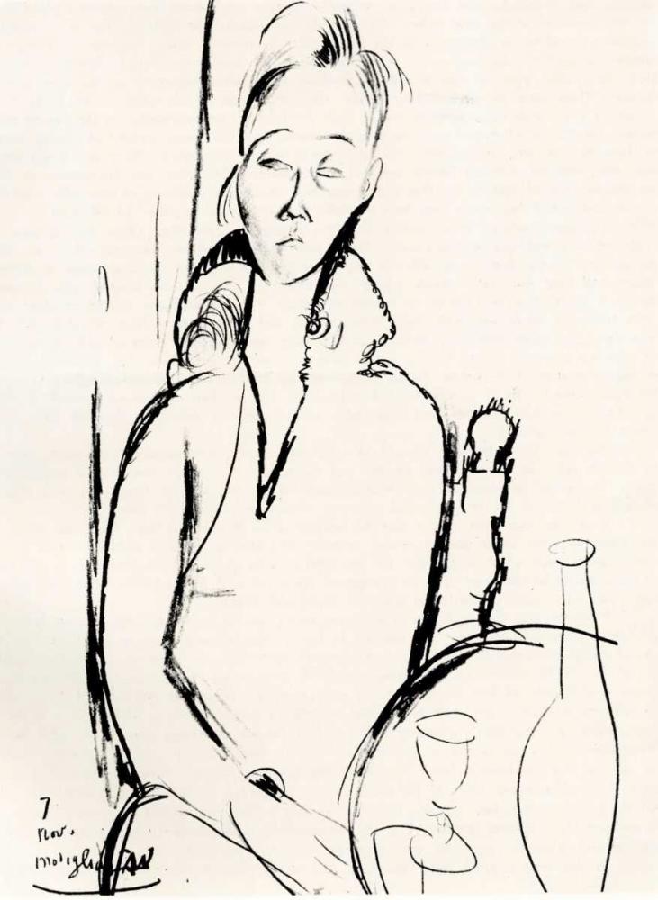 konfigurieren des Kunstdrucks in Wunschgröße Lunia Czechowska von Modigliani, Amedeo