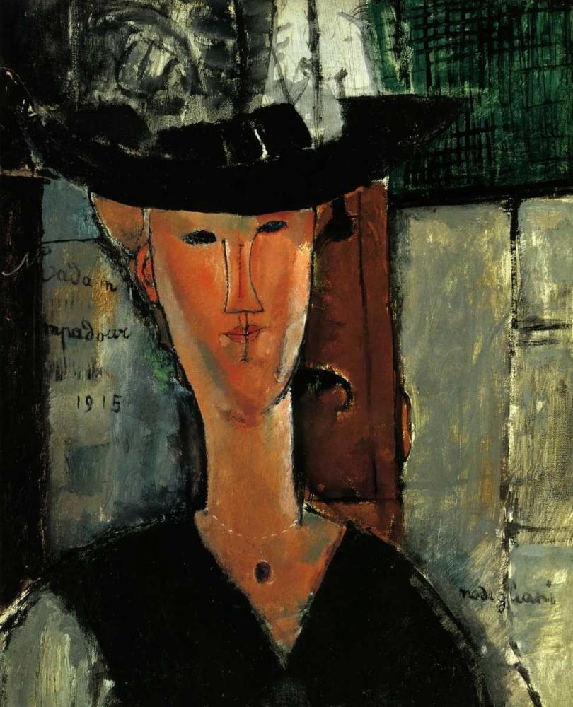 konfigurieren des Kunstdrucks in Wunschgröße Madam Pompadour von Modigliani, Amedeo