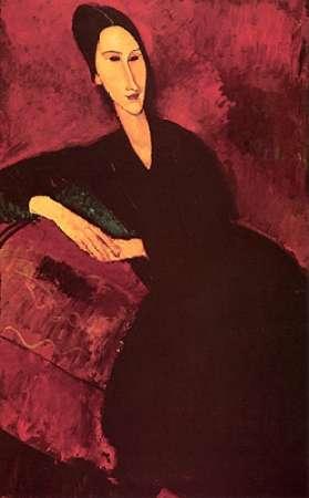 konfigurieren des Kunstdrucks in Wunschgröße Madame Zborowski On A Sofa von Modigliani, Amedeo
