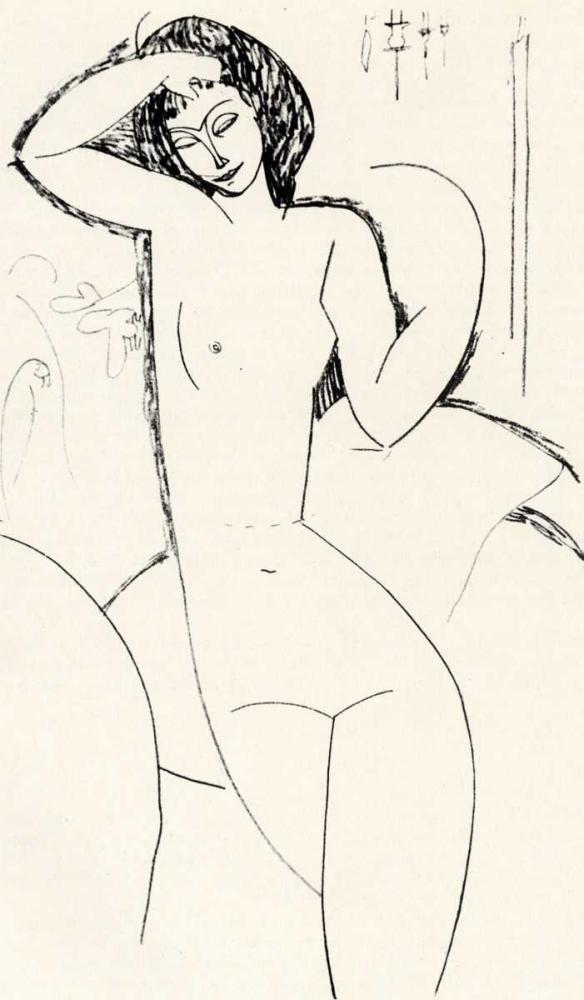 konfigurieren des Kunstdrucks in Wunschgröße Nude On Sofa von Modigliani, Amedeo