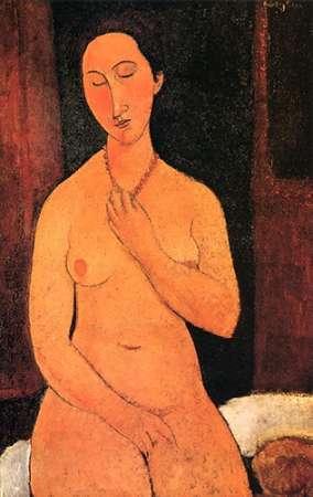 konfigurieren des Kunstdrucks in Wunschgröße Nude With Necklace von Modigliani, Amedeo