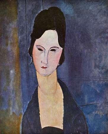 konfigurieren des Kunstdrucks in Wunschgröße Portrait Of A Woman von Modigliani, Amedeo