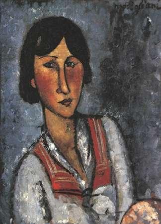 konfigurieren des Kunstdrucks in Wunschgröße Portrait Of A Woman 1 von Modigliani, Amedeo