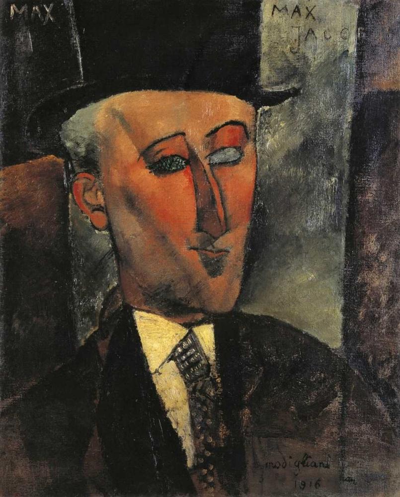 konfigurieren des Kunstdrucks in Wunschgröße Portrait Of Max Jacob von Modigliani, Amedeo