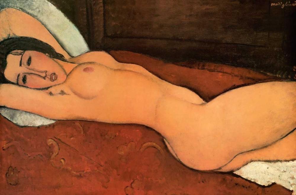 konfigurieren des Kunstdrucks in Wunschgröße Reclining Nude von Modigliani, Amedeo