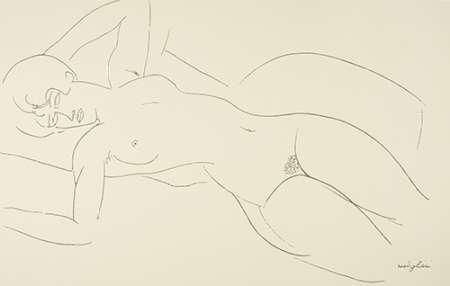 Reclining Nude 3 von Modigliani, Amedeo <br> max. 84 x 53cm <br> Preis: ab 10€