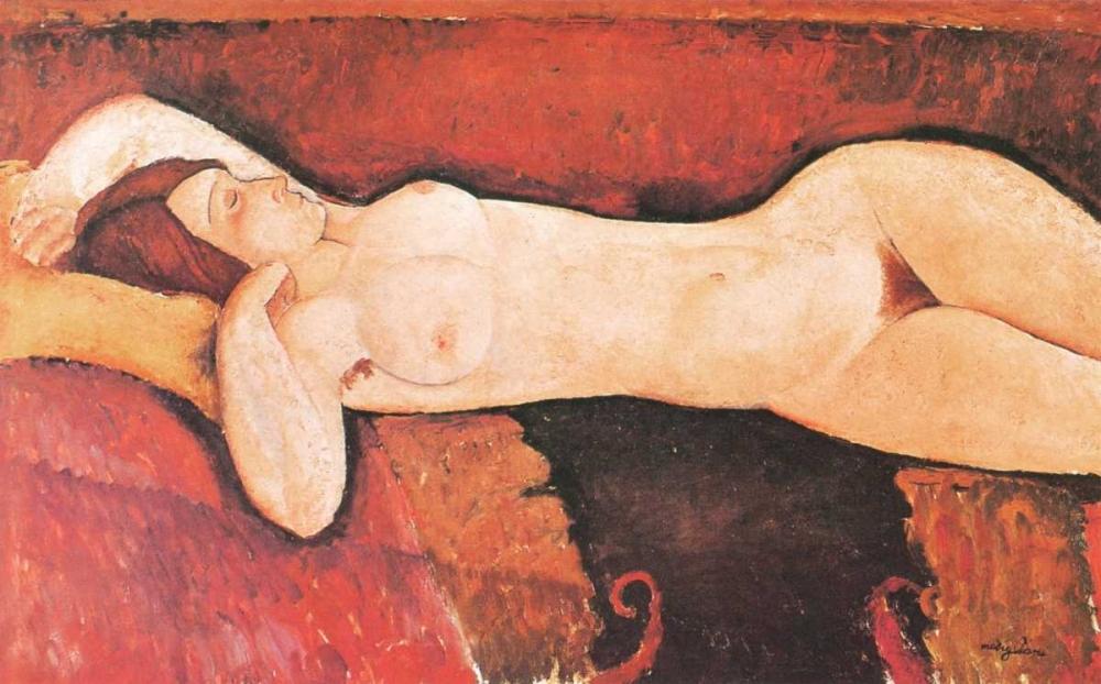 konfigurieren des Kunstdrucks in Wunschgröße Reclining Nude Le Grand Nu von Modigliani, Amedeo