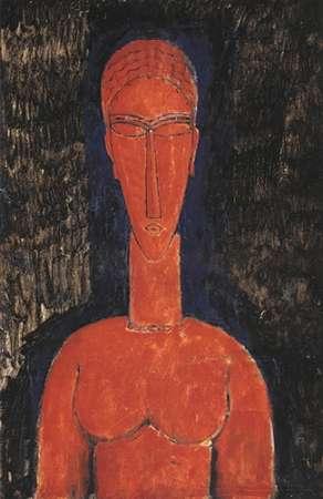 konfigurieren des Kunstdrucks in Wunschgröße Red Bust von Modigliani, Amedeo